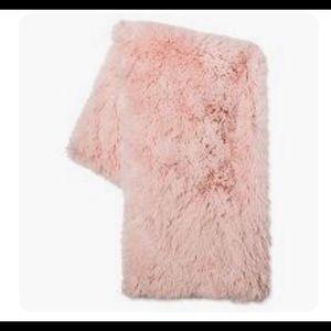 Target Blush Faux Fur Throw